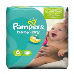 Pampers - Pack 96 Couches Baby Dry taille 6 sur Couches Center