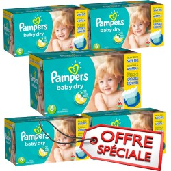 Pampers - Mega pack 192 Couches Baby Dry taille 6 sur Couches Center