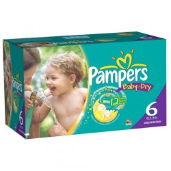 Pampers - Giga pack 288 Couches Baby Dry taille 6 sur Couches Center