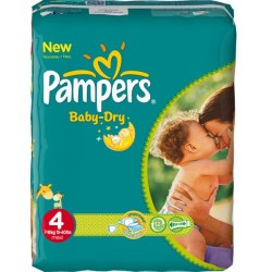 Pampers - Pack 50 Couches Baby Dry taille 4 sur Couches Center