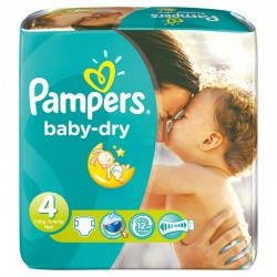 Pampers - Pack 75 Couches Baby Dry taille 4 sur Couches Center