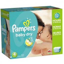 Pampers - Mega pack 100 Couches Baby Dry taille 4 sur Couches Center