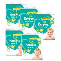 Pampers - Giga pack 203 Couches Baby Dry taille 7 sur Couches Center