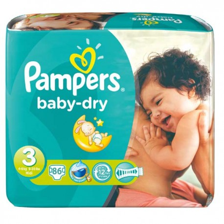 Pampers - Pack 30 Couches Baby Dry taille 3 sur Couches Center