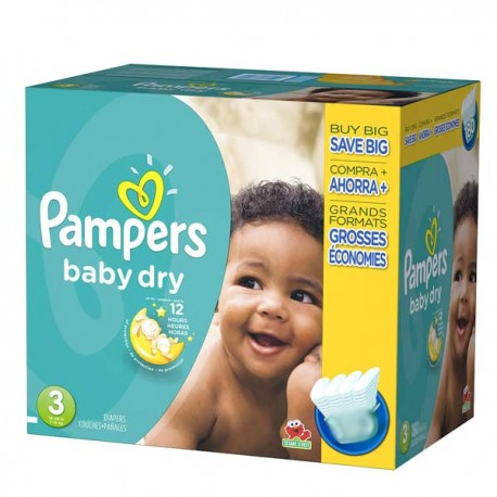 Pampers - Maxi giga pack 330 Couches Baby Dry taille 3 sur Couches Center