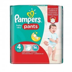 Pampers - Pack 82 Couches Baby Dry Pants taille 4 sur Couches Center