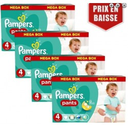 Pampers - Giga pack 246 Couches Baby Dry Pants taille 4 sur Couches Center