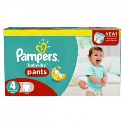 Pampers - Pack jumeaux 574 Couches Baby Dry Pants taille 4 sur Couches Center