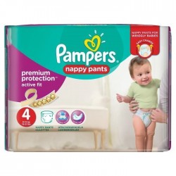 Pampers - Mega pack 160 Couches Active Fit Pants taille 4 sur Couches Center