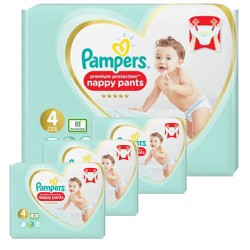 Pampers - Giga pack 282 Couches Premium Protection Pants taille 4 sur Couches Center