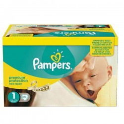Pampers - Pack 44 Couches Premium Protection taille 1