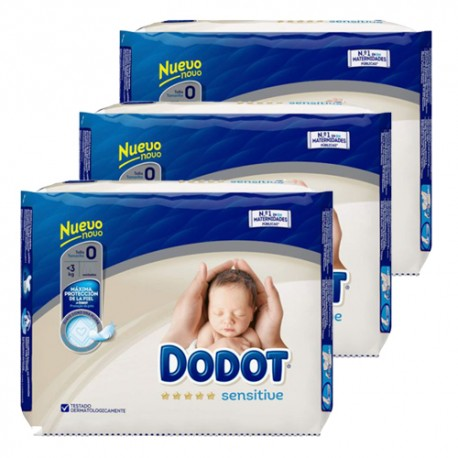 Dodot - Mega pack 144 Couches 0 taille 0 sur Couches Center