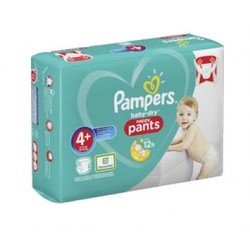 Pampers - Pack 82 Couches Baby Dry Pants taille 4+ sur Couches Center