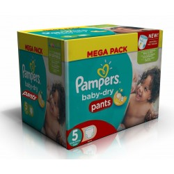 Pampers - Maxi giga pack 384 Couches Baby Dry Pants taille 5 sur Couches Center