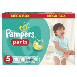Pampers - Maxi mega pack 480 Couches Baby Dry Pants taille 5 sur Couches Center