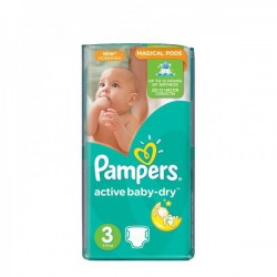 Pampers - Mega pack 124 Couches Active Baby Dry taille 3 sur Couches Center