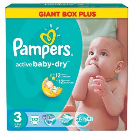 Pampers - Maxi giga pack 372 Couches Active Baby Dry taille 3 sur Couches Center