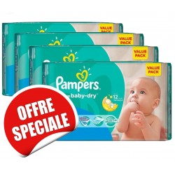 Pampers - Pack jumeaux 620 Couches Active Baby Dry taille 3 sur Couches Center