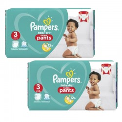 Pampers - Mega pack 190 Couches Baby Dry Pants taille 3 sur Couches Center
