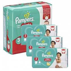Pampers - Giga pack 266 Couches Baby Dry Pants taille 3 sur Couches Center