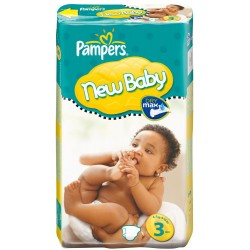 Pampers - Pack 68 Couches New Baby Premium Protection taille 3 sur Couches Center