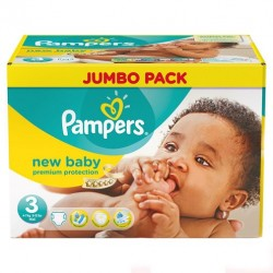 Pampers - Mega pack 136 Couches New Baby Premium Protection taille 3 sur Couches Center
