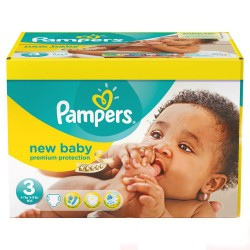 Pampers - Giga pack 204 Couches New Baby Premium Protection taille 3 sur Couches Center