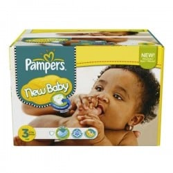 Pampers - Maxi mega pack 408 Couches New Baby Premium Protection taille 3