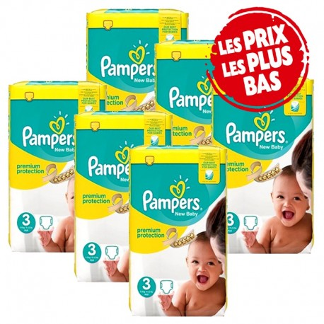 Pampers - Pack 58 Couches Premium Protection taille 3 sur Couches Center