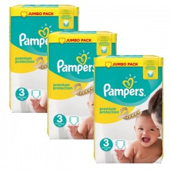 Pampers - Pack 87 Couches Premium Protection taille 3 sur Couches Center