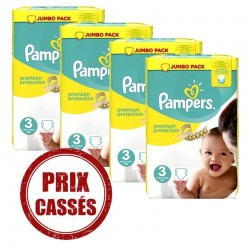 Pampers - Mega pack 145 Couches Premium Protection taille 3