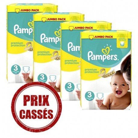 Pampers - Mega pack 145 Couches Premium Protection taille 3 sur Couches Center
