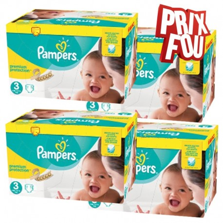Pampers - Mega pack 174 Couches Premium Protection taille 3 sur Couches Center
