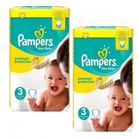Pampers - Giga pack 203 Couches Premium Protection taille 3 sur Couches Center