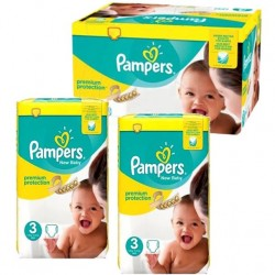 Pampers - Maxi giga pack 377 Couches Premium Protection taille 3 sur Couches Center