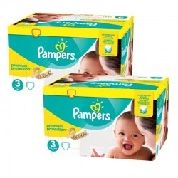 Pampers - Maxi mega pack 406 Couches Premium Protection taille 3 sur Couches Center