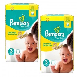 Pampers - Pack jumeaux 522 Couches Premium Protection taille 3 sur Couches Center
