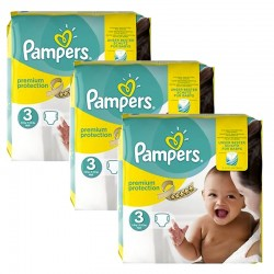 Pampers - Pack jumeaux 580 Couches Premium Protection taille 3 sur Couches Center