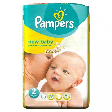 Pampers - Pack 52 Couches Premium Protection taille 2 sur Couches Center