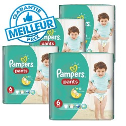 Pampers - Giga pack 216 Couches Baby Dry Pants taille 6 sur Couches Center