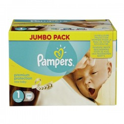 Pampers - Maxi giga pack 336 Couches Premium Protection taille 1 sur Couches Center