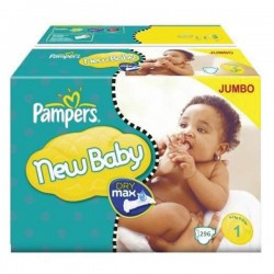 Pampers - Maxi mega pack 448 Couches Premium Protection taille 1 sur Couches Center