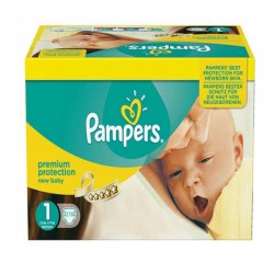 Pampers - Pack jumeaux 504 Couches Premium Protection taille 1 sur Couches Center