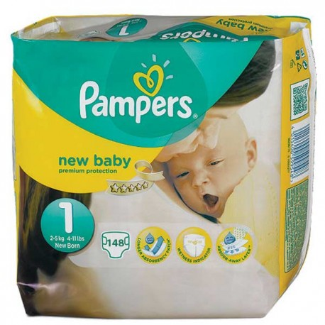 Pampers - Pack jumeaux 672 Couches Premium Protection taille 1 sur Couches Center