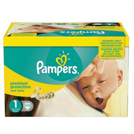 Pampers - Pack jumeaux 728 Couches Premium Protection taille 1 sur Couches Center