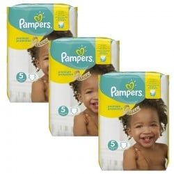 Pampers - Maxi mega pack 408 Couches Premium Protection taille 5 sur Couches Center