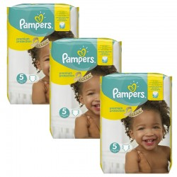 Pampers - Maxi mega pack 476 Couches Premium Protection taille 5 sur Couches Center