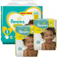Pampers - Pack jumeaux 748 Couches Premium Protection taille 5 sur Couches Center