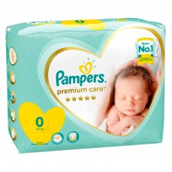 Pampers - Pack 30 Couches Premium Care taille 0 sur Couches Center