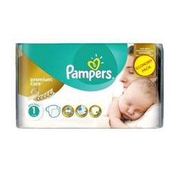 Pampers - Pack 52 Couches Premium Care taille 1 sur Couches Center